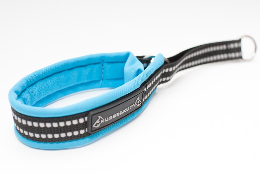 sininen, puolikuristava, 3,5cm leveä, 2cm nauha