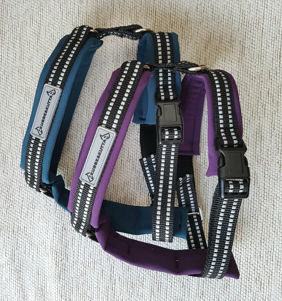 soft shell -valjaat violetti ja petrooli