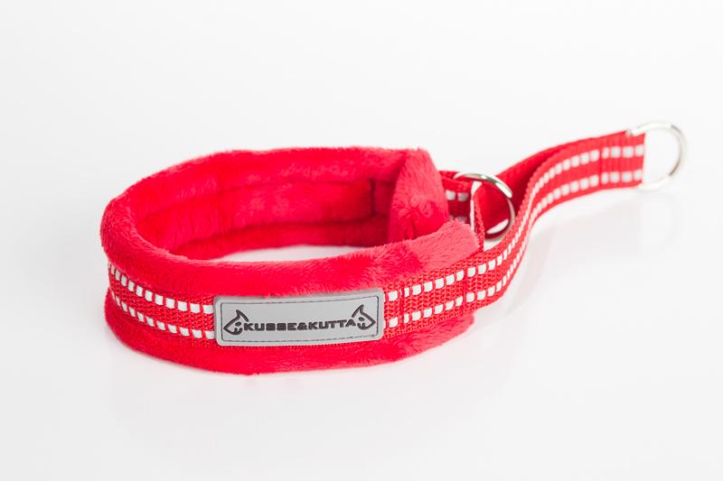 punainen, puolikuristava, 4cm leveä, 2cm punainen nauha