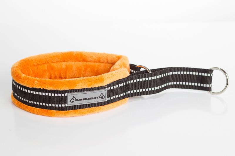 oranssi, puolikuristava, 5cm leveä, 3cm nauha